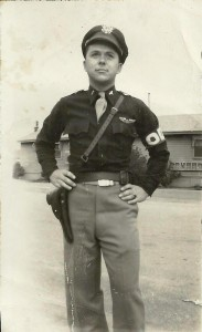 The Old Man in 1945, his 1911 at his side.