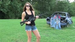 Girl with AR15 2