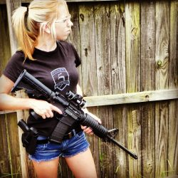 Girl with AR15