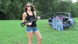 Girl with AR15 2